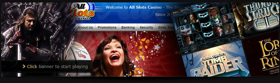 With 350 games to choose from, All Slots Casino is the biggest online slots casino