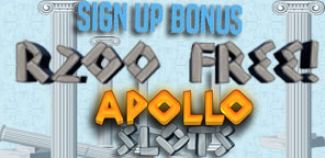 Get R200 FREE When you sign up at Apollo Slots