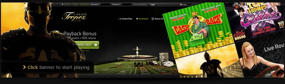 The biggest selection of games online at Casino Tropez!!