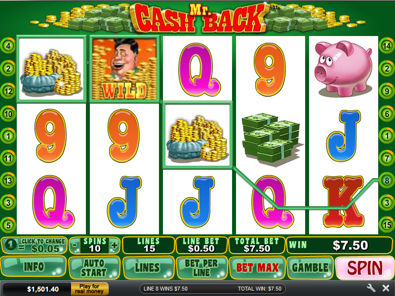 Universal get money back on losing spins with mr cashback slot video grand