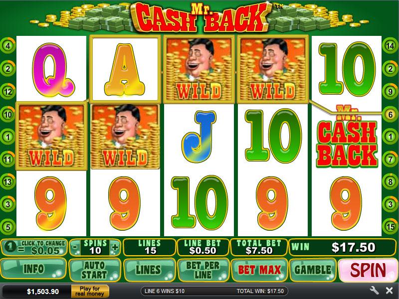 For mega get money back on losing spins with mr cashback slot logo youtube