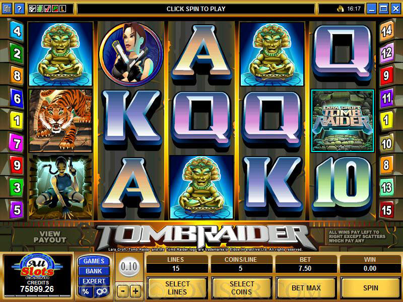 tomb raider slots game