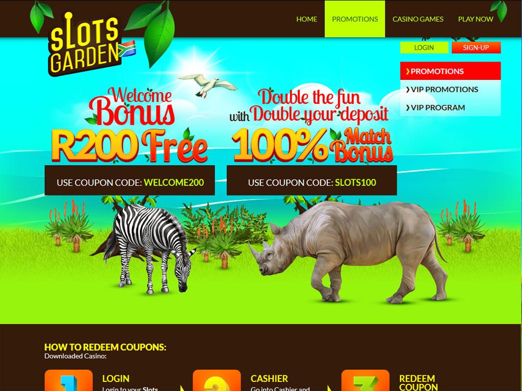 slots garden casino home page slots garden casino promotions page - Slots Garden Casino