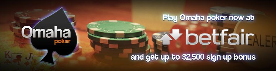 Omaha poker game