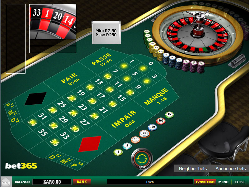 Play French Roulette Online at Casino.com South Africa