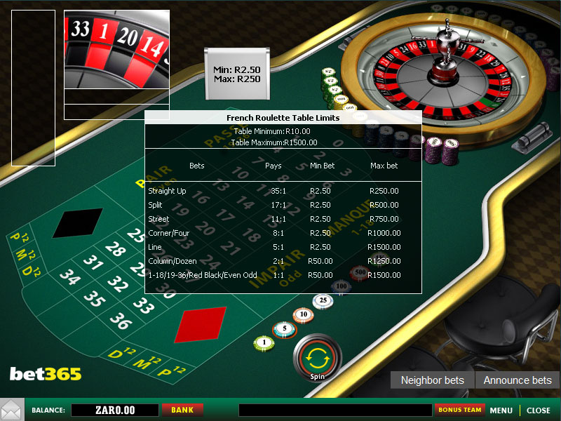 Play Multiplayer French Roulette Online Roulette at Casino.com South Africa