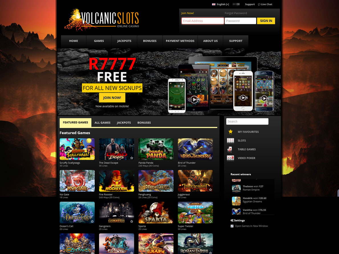 Volcano 777 - new games in new quality