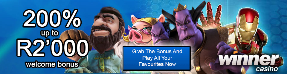 200% R2'000 Welcome Bonus At Winner Casino